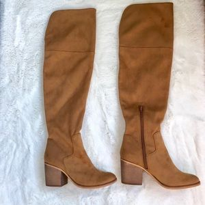 Melrose & Market Stacey cognac over the knee boots